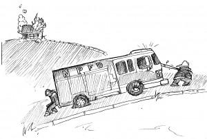 Editorial Cartoon, Issue 2 by Derek Zimmermann