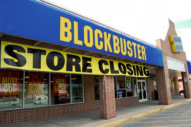 Blockbuster outlets, like the one in New Paltz, will be closing shortly in response to competition from the Internet.