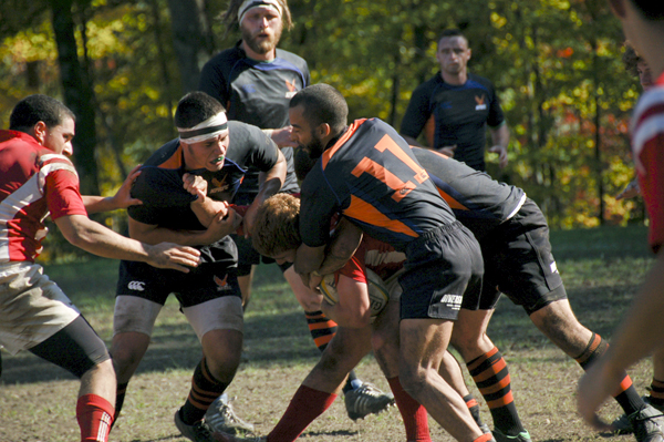 The Men's Rugby team will play a small amount of games this spring, but will continue to keep in shape.