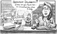 Cartoon by Julie Gunderson.