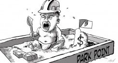Cartoon by Mike Sheinkopf.