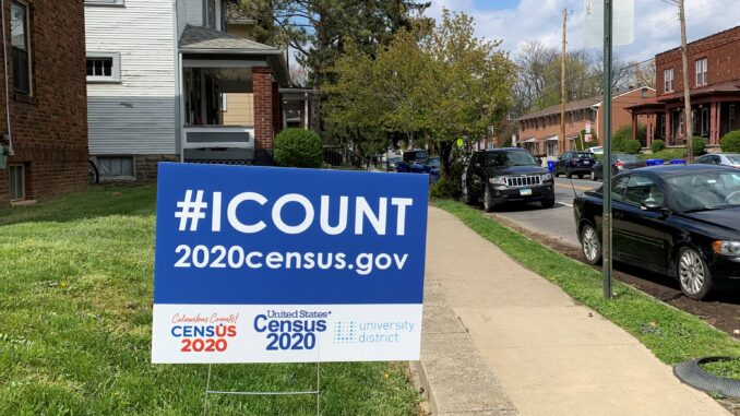 census yard sign